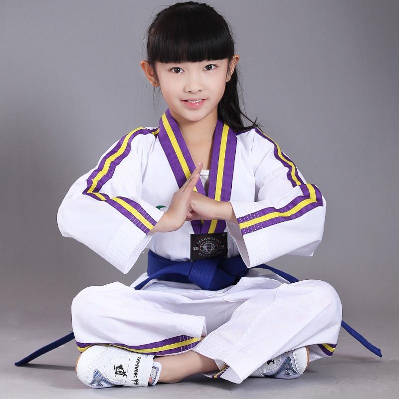 Ny stil Original voksen børn Bomuld Blød Taekwondo Uniform - Sportsbeklædning og tilbehør - Foto 1
