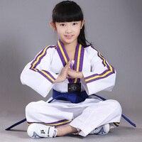 New Style Original Adult Children Cotton Soft Taekwondo Uniform Taekwondo Trainer Authentic Clothing