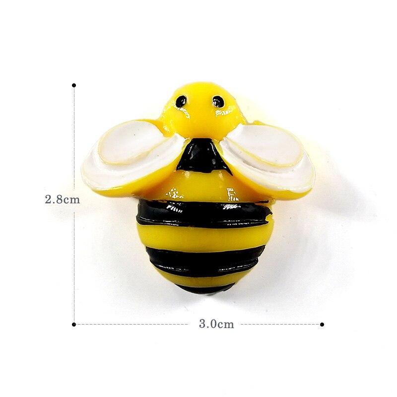6pcs Bee Wasp Fridge Magnets Creative Cartoon Souvenir Refrigerators Magnetic Message Sticker Home Decor Kitchen Accessories
