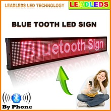 30 x6.3inch indoor Bluetooth remote control Programmable Scrolling Message Led display Board for Business and Store -Red Message