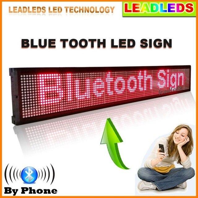 30x6.3 дюймов крытый Bluetooth пульт дистанционного управления Программируемый Прокрутки Сообщения Светодиодных табло для Бизнеса и Магазин-Красный сообщение