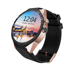 "Smartwatch 3g kingwear kw88 pk finow x5 x61.39 ""amoled 400*400 smart watch 3g aufruf 2.0mp kamera schrittzähler herzfrequenz"