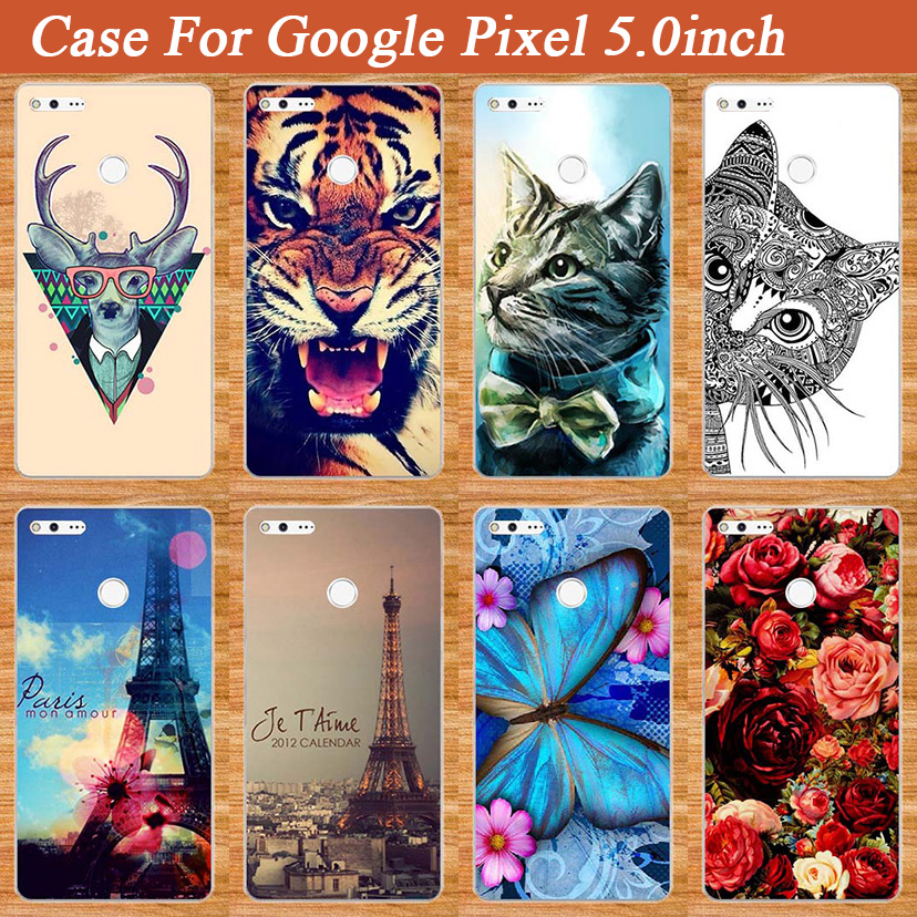 Painting Tpu Cover For GOOGLE PIXEL 5.0 Inches Brilliant Case Cartoon Design Luxury Type Cover Soft TPU Case FOR Google Pixel 5'