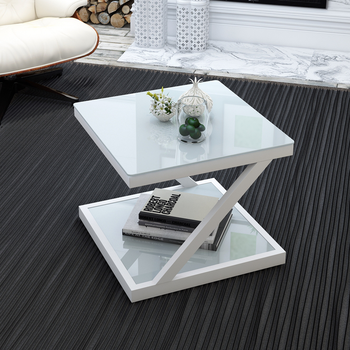 US $186.76 21% OFF|simple and modern side table stalinite Small tea table  square creativity tea table drawing room small table modern furniture-in ...