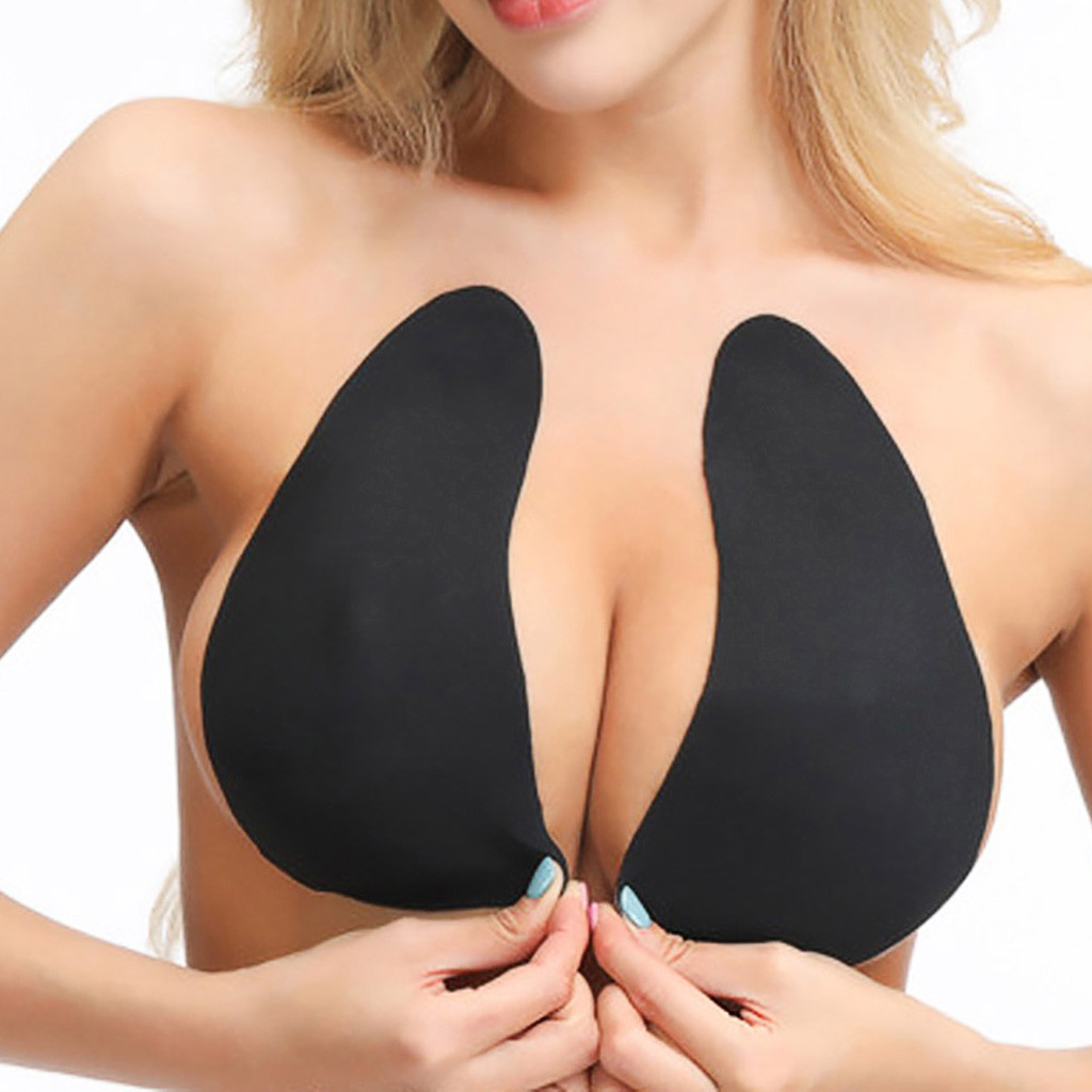 Breast Lift Tape Intimates Sexy Breast Bra Accessories Reusable Silicone Push Up Breast Nipple Cover Adhesive Bra 2019