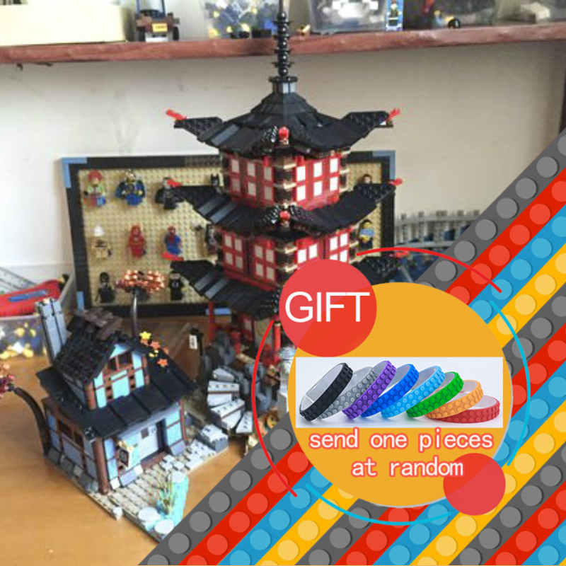 New bricks 06022 Temple of Airjitzu 737 pcs Set Compatible with for Kids Building MINI Version