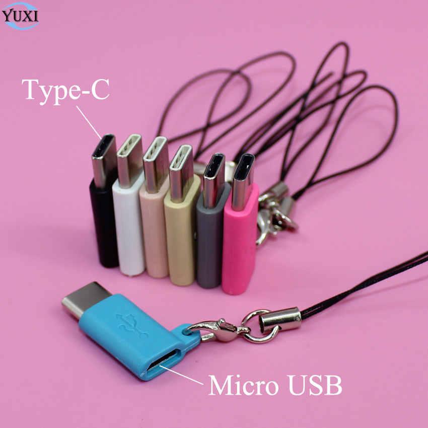 Yuxi Tipe-C OTG Adaptor untuk Micro USB Charger Konektor untuk Samsung Galaxy S8 S9 Plus Note 8 9 xiaomi Mi8 4C Dll Ponsel Android