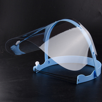 Dental Detachable Face Shield Blue With 10 Films Protective Cover Replacement