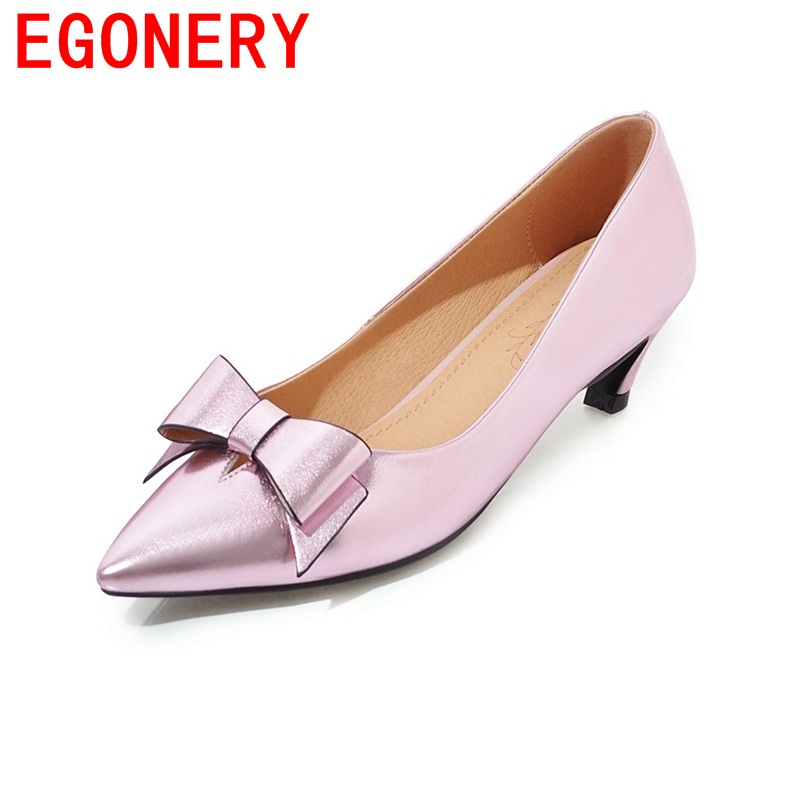 EGONERY butterfly-knot decoration pointed toe patent leather woman shoes female spring zapatos mujer thin heels bowtie pumps choudory high heels woman pumps spring autumn flower decoration woman shoes attractive flock pointed toe party zapatos mujer