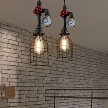 Coquimbo E26/E27 Retro Loft Style Pendant Lamp Water Pipe Industrial Vintage Fixtures Bar Dinning Room Living Room Lamp(China)