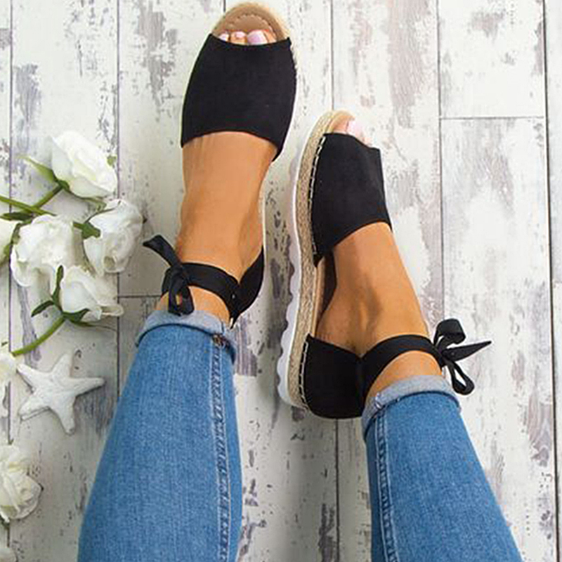 Women Sandals 2018 Fashion Summer Shoes Woman Rome Ankle Strap Flat Sandals Casual Peep Toe Gladiator Sandals Low Heel Shoes