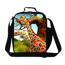 Dispalang Cute Giraffes Animal Thermal Lunch Bag Children Insulated Lunch Box Food Container Insulation Meal Package Picnic Bag