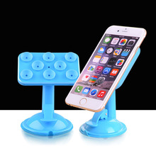 New Universal Car Phone Holder Sucker Stand for iPhone 6S plus Samsung GPS PAD 360 Degree Rotation 8 Suction Cups Adsorption