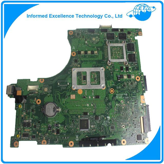 Placa base con cpu i7 placa madre del ordenador portátil para asus n56jr rev.2.0 madre non-integrated totalmente probado