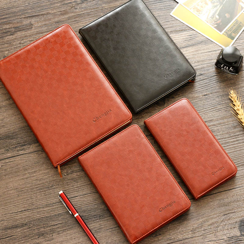 Cheng Jia Cuadernos de gama alta A6 A5 B5 Pu Funda de cuero - Blocs de notas y cuadernos