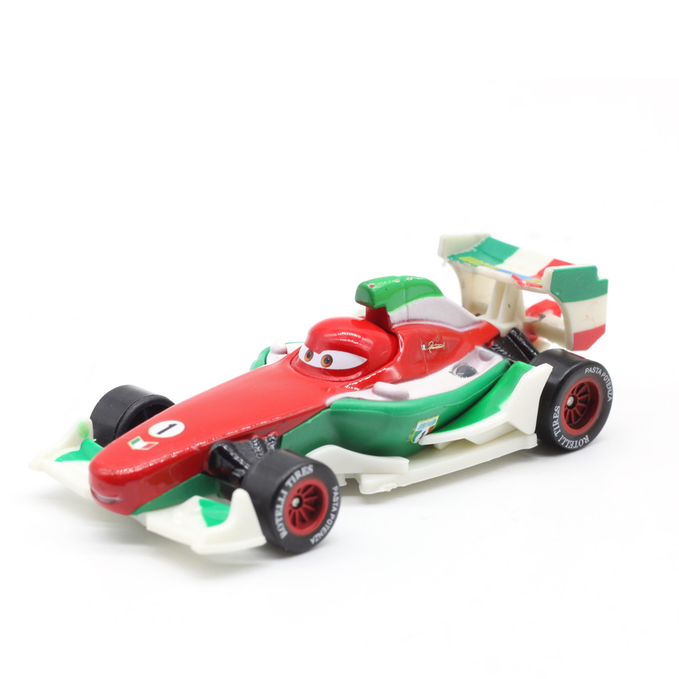 Disney Pixar Cars 2 3 Lightning McQueen F1 Chick Hicks Metal Diecast Toy Car 1:55 Loose Brand New In Stock & Free Shipping