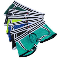 3pcs/lot Gay Men Underwear Boxers Sexy Calzoncillos Boxer Shorts Cueca Male String Homme Net Yarn Nylon WJ Brand Sexy 3009 PJ