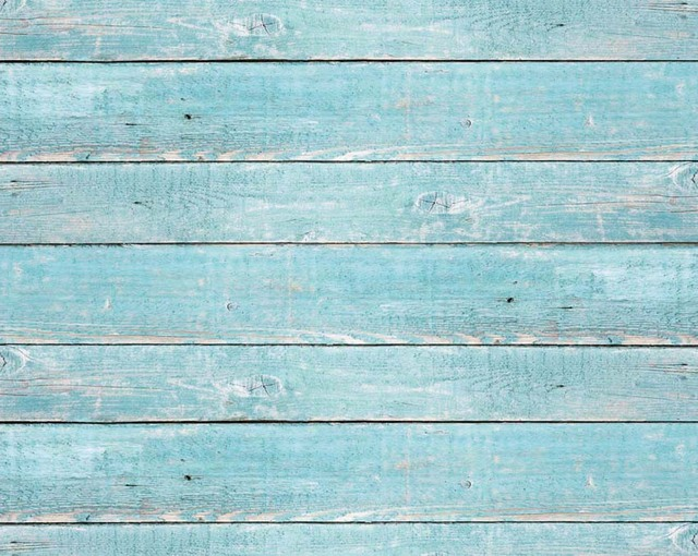 Horizontal Vinyl Cloth Newborn Blue Wooden Floor