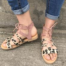 Summer Sandals Women Plus Size 43 Flats Female Casual Peep Toe Gladiator Shoes Flock Lace Up Ladies Shoes Leisure Solid Footwear new fashion summer gladiator ankle strap women shoes flat sandals fretwork flats women leisure footwear size 34 43 pa00798
