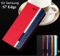 S7 Край Бизнес & Мода Флип Кожаный Чехол для Samsung Galaxy S 7 edge Мобильный Телефон Случае Крышка Смешанный Цвет карты слот