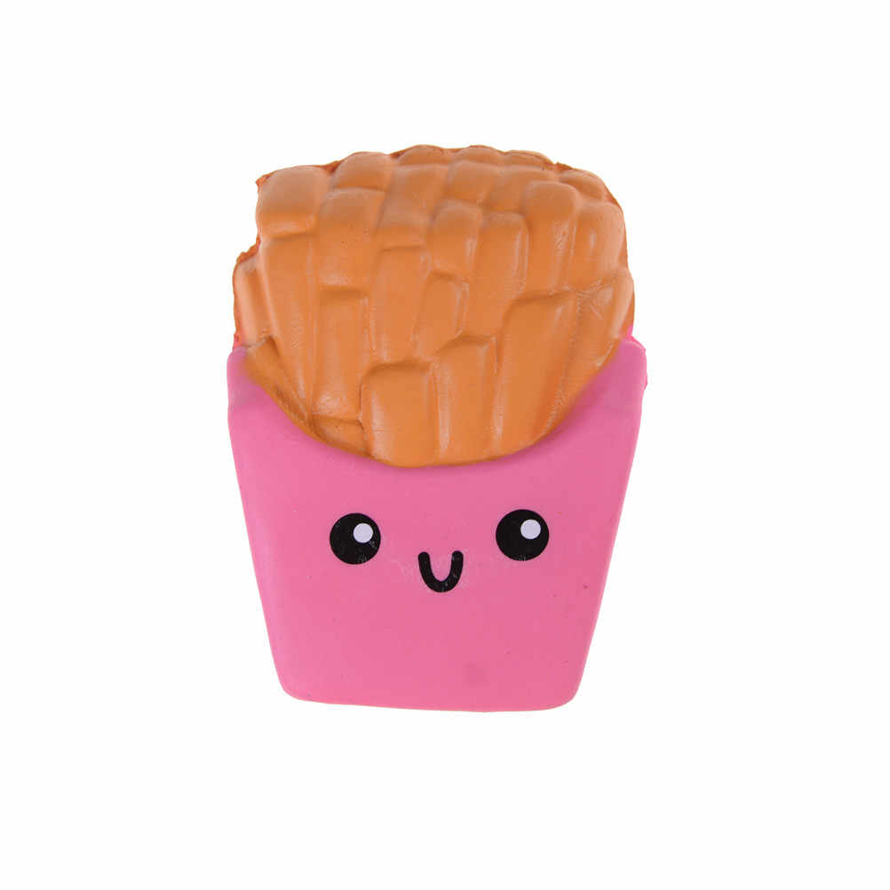 Grosir Roti Kue Empuk Scented Kawaii Jumbo French Fries Lembut Lambat Naik Elastisitas Peregangan Tali Anak Mainan anti-stres