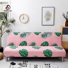 Parkshin جديد أوراق شامل سرير أريكة قابلة للطي غطاء ضيق التفاف أريكة منشفة غطاء أريكة دون مسند ذراع housse دي canap cubre