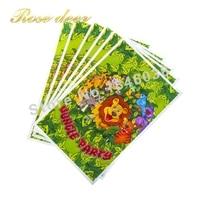 500 sztuk/partia Król Lew Theme Strona Gift Bag Party Dekoracje Plastikowe Cukierki Torba Loot Bag For Kids Festival Party materiałów eksploatacyjnych
