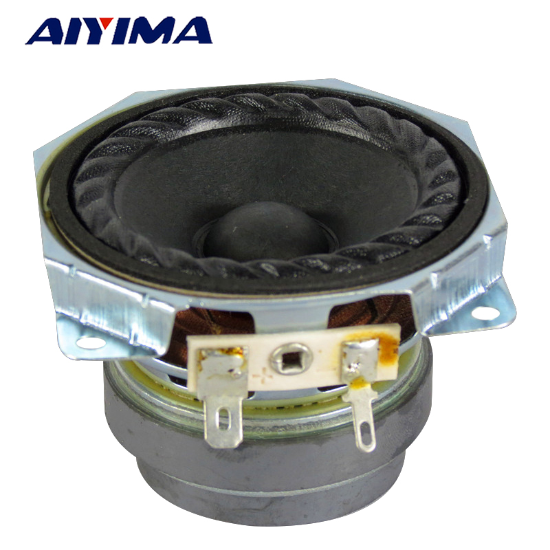 AIYIMA 2Pcs 2.5Inch Audio Portables Speakers 4Ohm 10W Full Range Speaker Cloth Bubble Edge DIY For Home Theater