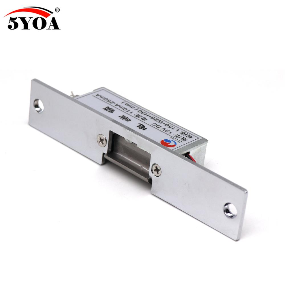 Image 4 - Access control 12V DC Fail Safe NC Narrow type Door Electric Strike Lock For Access Control Power Locks-in Electric Lock from Security & Protection