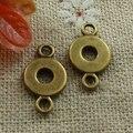 390 шт покрытый бронзой красивые разъемы 17x9 мм #1051