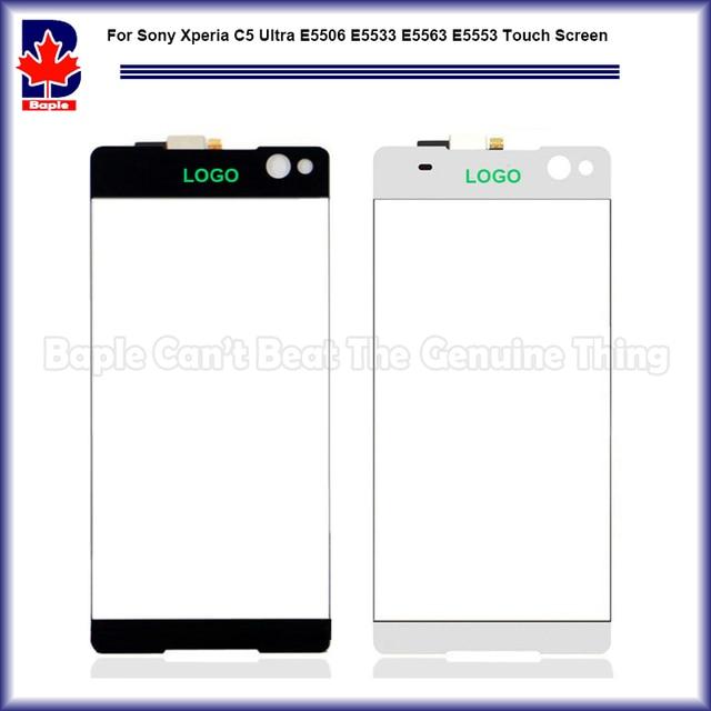 """Alta Qualidade 6.0 """"para sony xperia c5 ultra e5506 e5533 e5563 e5553 sensor do painel de toque digitador da tela de painel lente de vidro da frente"""