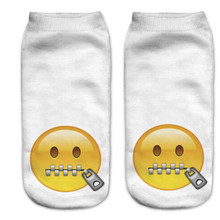 2016 Fashion 3D Print Socks Women Funny Casual Emoji Socks Men Unisex Low Cut Ankle Socks
