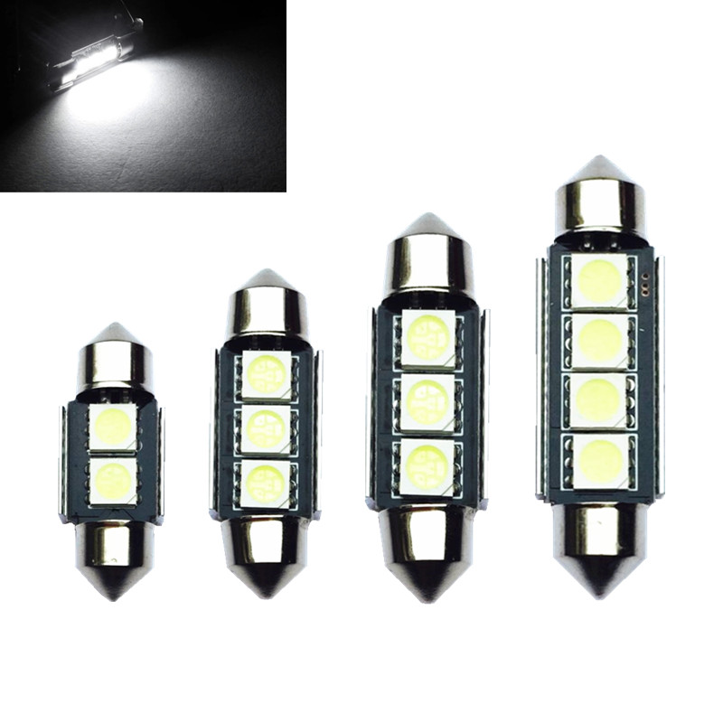 1*High Quality 31mm 36mm 39mm <font><b>42mm</b></font> C5W C10W Super Bright 5050SMD Car <font><b>LED</b></font> Festoon Light Canbus Error Free Interior Doom Lamp <font><b>Bulb</b></font> image