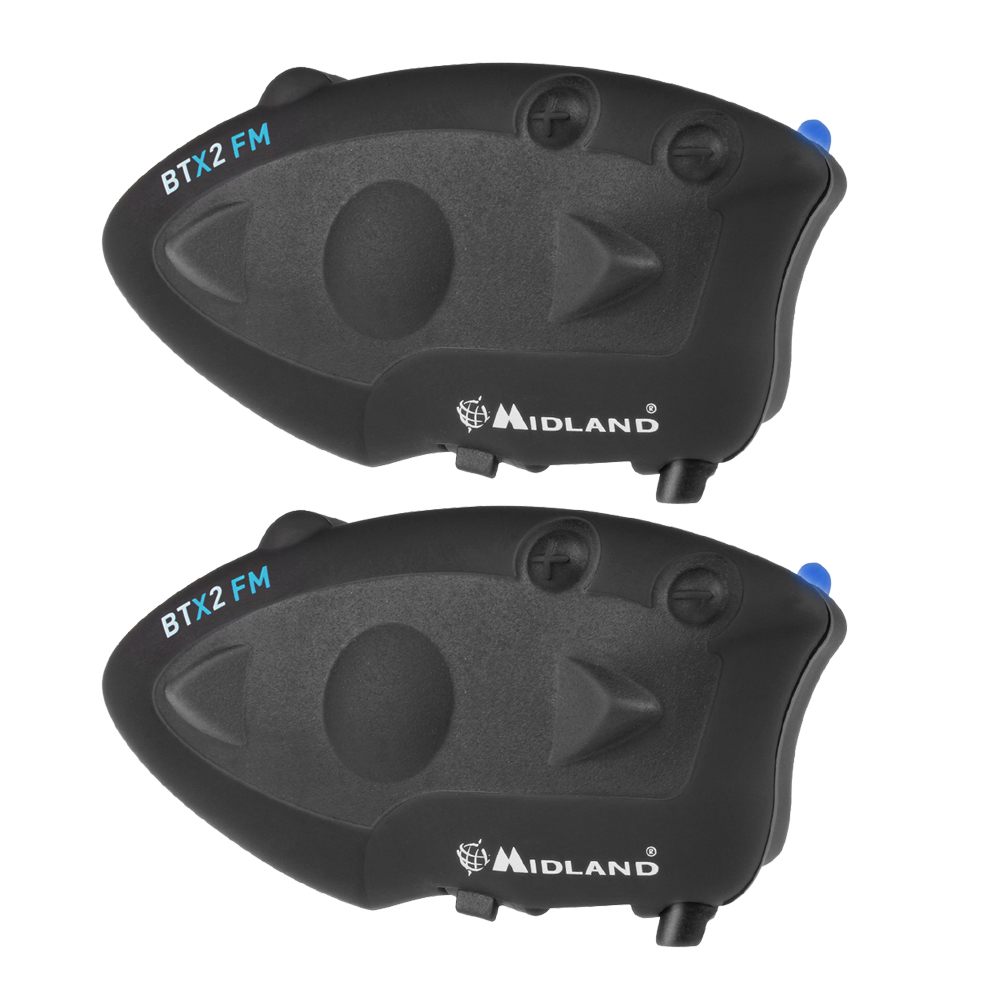 2 pcs MIDLAND BTX2 FM Motorcycle Helmet Bluetooth Intercom 800M Waterproof Wireless Helmet Headset Intercomunicador Moto