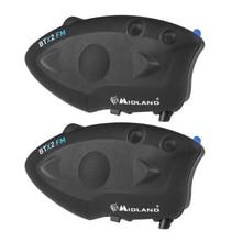2 pcs MIDLAND BTX2 FM Motorcycle Helmet Bluetooth Intercom 800M Waterproof Wireless Headset Intercomunicador Moto