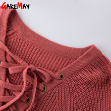 Sweater Women Pullover Long Sleeve Knitted jumper Sexy Tops Winter Women's Sweaters Knitwear Pull Femme Hiver 2018 GAREMAY