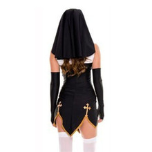 Easter Sexy Nun Halloween Polyester Costume Adult Women