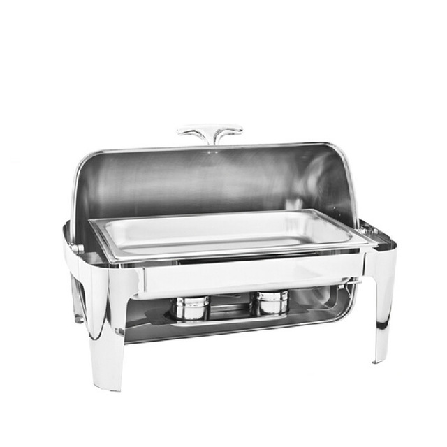 Hot Sale Stainless Steel Flip Square Chafing Dish Single Food Dish