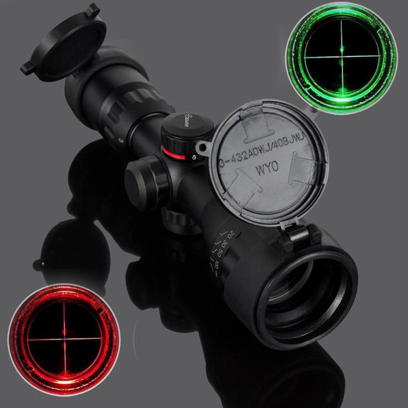 AUKMONT 3-9x32 Telescopic Sight Sight Rifle Hunting Green / Red Scope LLL Night Vision Telescopic Sight 3-9x32 Sight Rifle Hunti 2016 scope leupold new 3 9 32eg zoom sight cross the full range of high definition seismic birding telescopic free shipping