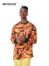 2018 HEYGUYS fashion camouflage street wear sweatshirts men brand clothing France US men hip hop tracksuit(China)