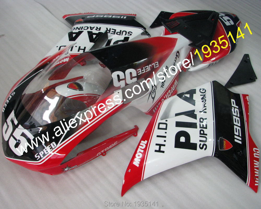 Hot Sales,#55 Cowling parts For Ducati 1098S 848 1198SP 2007 08 09 10 11 sport motorbike Fairing fittings (Injection molding)