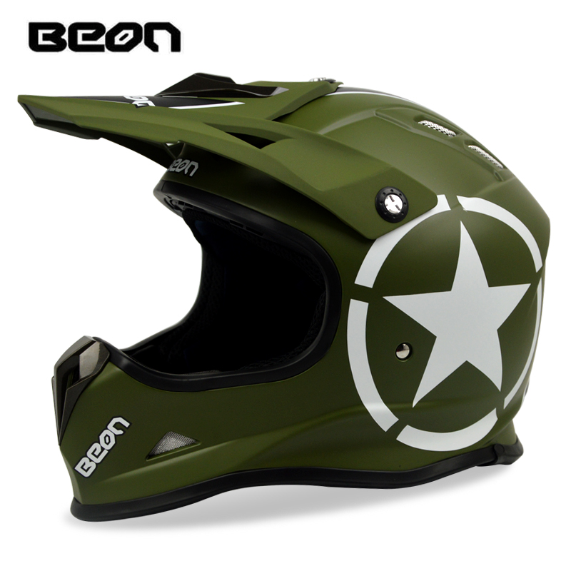 цена на BEON ATV Motocross Helmet Motorcycle Off-road Racing Dirt bike MTB DH Helmets Motos Casque Casco para moto Motocicleta Capacete