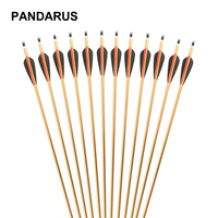 PANDARUS Darts 30 inches Spine 500 6/12/24 pcs/lot Aluminum Arrow with Gold Color for Recurve/Compound Bows Archery Hunting Shoo