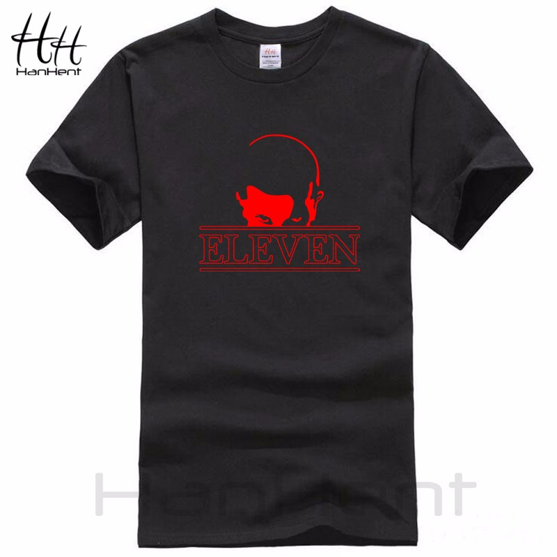 HanHent Stranger Things Eleven 11 T-shirt Men 17 New Arrival tshirt homme Cotton Short Sleeve T shirts men Casual Shirt TH5283 4