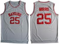 Cheap Basketball Jersey Sleeveless Throwback Zack Morris 25 Bayside Tigers Saved By The Bell Gray S
