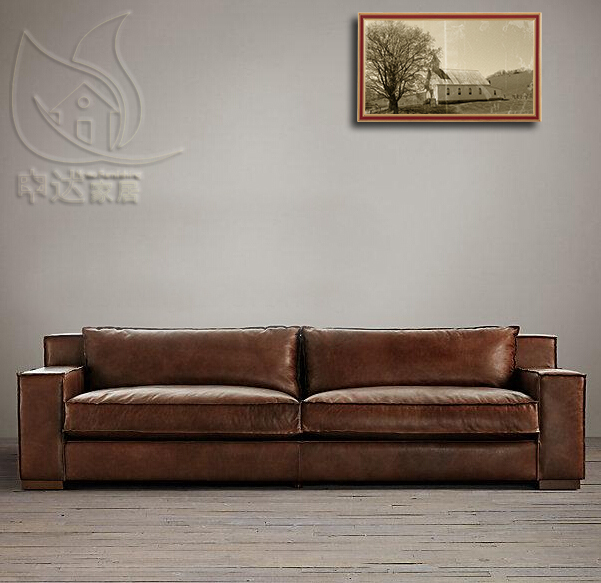 Sofa Cuero Ikea.American Village Vintage Armchair French Oil Wax Leather