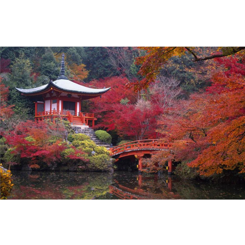 ><font><b>japanese</b></font> <font><b>house</b></font> and garden autumn Paint With Diamonds,Full,square,5D Diy Diamond painting Cross Stitch Embroidery Kits JS4307