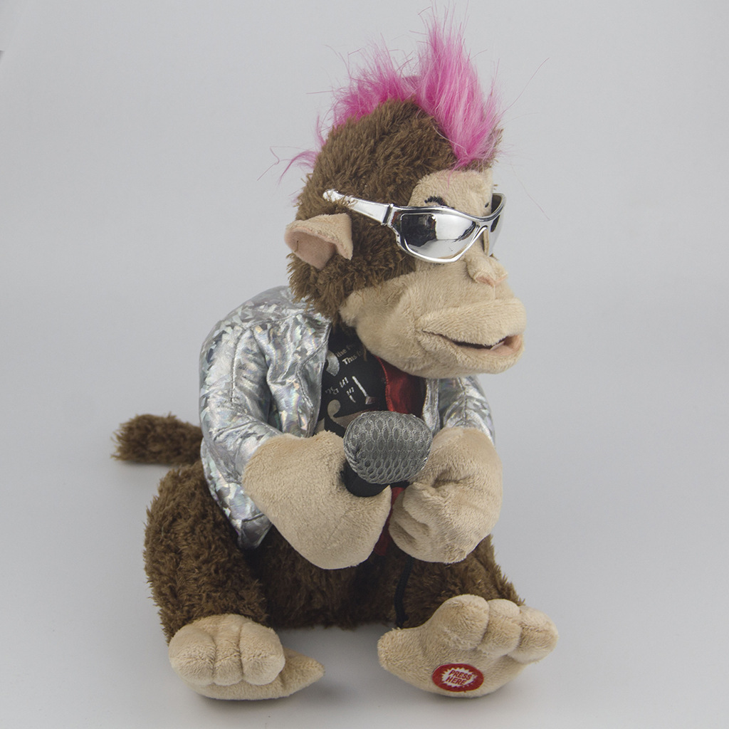 Electric Plush Toys Creative Doll Get Microphone Will Sing Karaoke Monkey Funny Toys 1