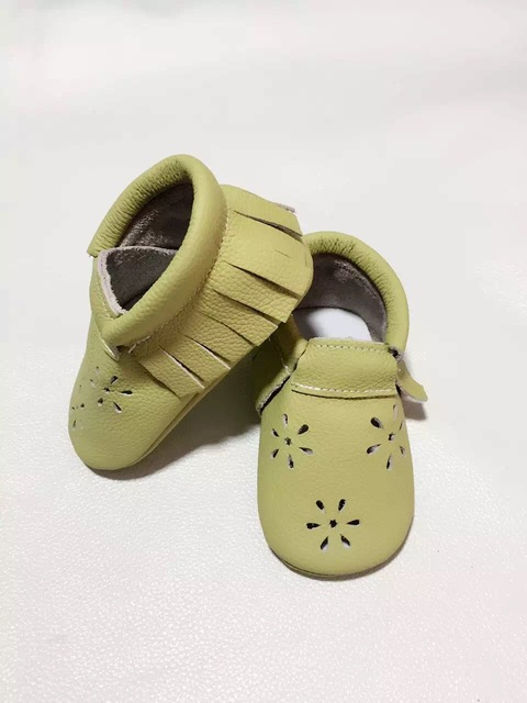 Muticolor Cute Infant Toddler Baby moccoasins Hollow Snow Girl  Soft Sole  cow leather Prewalker First Walker kids shoes