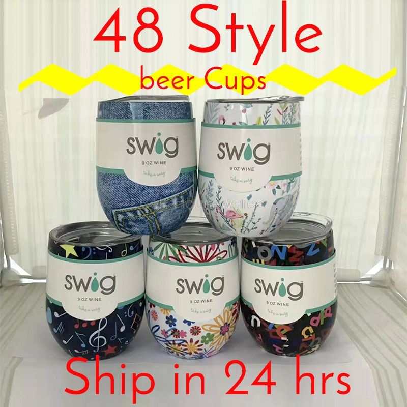 Swig Wine Cups 2019 Wine Tumber Thermal Flask Champagne Coffee Mugs Gift Party(China)